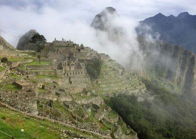Der erste Blick auf Machu Picchu