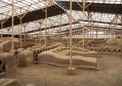 Gut erhaltene Ausgrabungen.