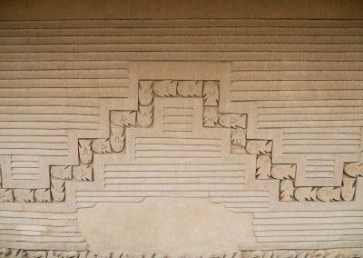 Schöne Wandverzierungen.