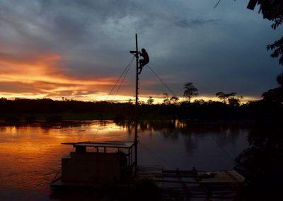Ob der Sonnenuntergang von da oben noch schöner ist?