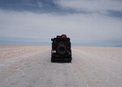 Mehre Meter dick ist die Salzkruste
