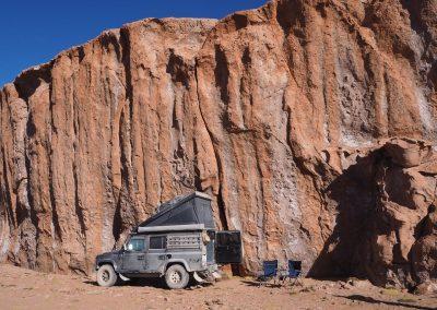 Nachtlager im windgeschützten Canyon