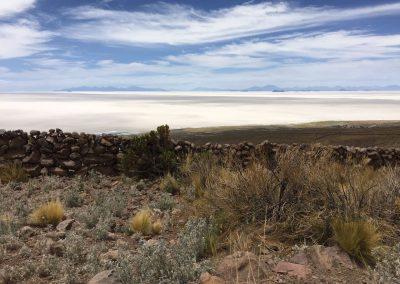 Der Ausblick über die Salar de Uyuni