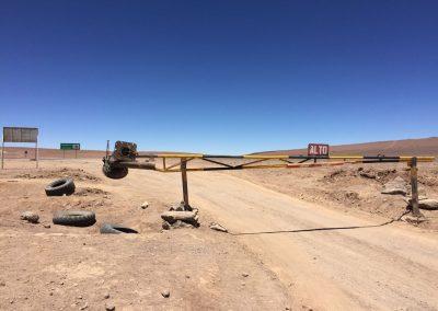 Das Tor ins Niemansland zwischen Bolivien und Chile