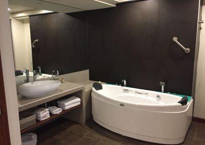 Wow! Sogar eine Sprudel-Badewanne hatte dieses Hotelzimmer in Augas Caliente.