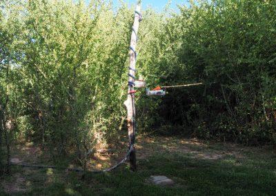 Eine Dusche im Grünen. Camping Utopia in Argentinien.