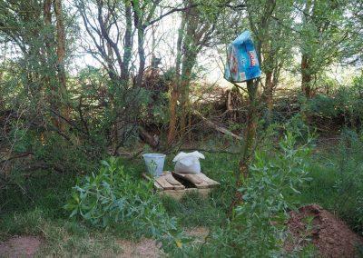 Und das passende Plumpsklo dazu. Camping Utopia in Argentinien.