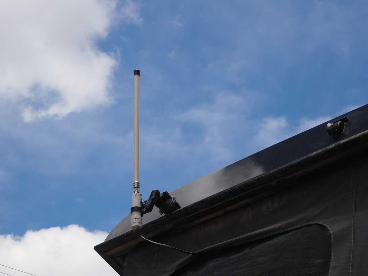 W-Lan Antenne am Klappdach