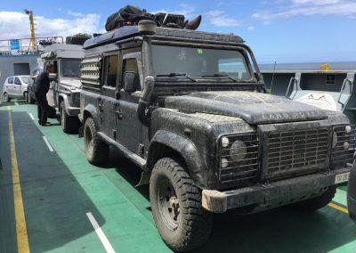 Per Fähre geht's auf die Insel Chiloé.