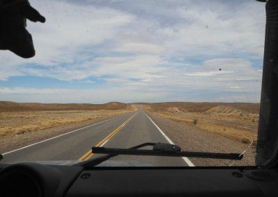 Die Sicht für die nächsten paar hundert Kilometer