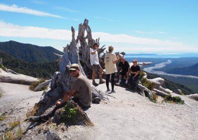Unsere Wandergruppe mit den Australiern zusammen.