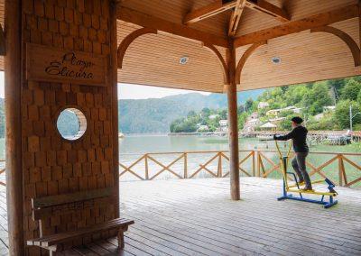 Auf dem «Dorfplatz» kann man auch Sport treiben…