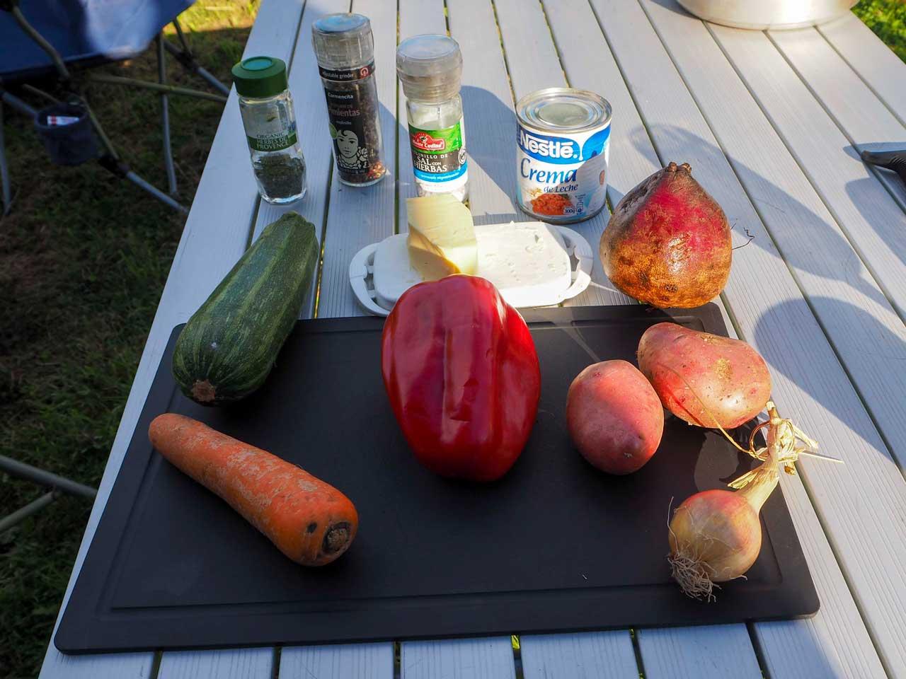Zutaten Gemüsegratin