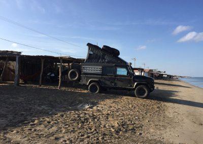 In Cabo de la Vela auf la Guajira, durften wir direkt am Strand des Dorfes campen.
