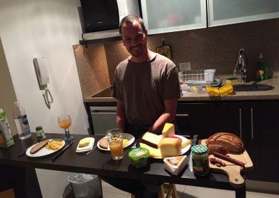 …und gönnten uns ein schweizerisches Abendessen mit viel Käse!