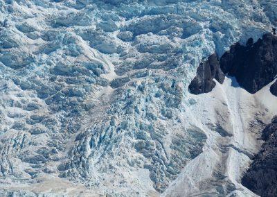…mit Gletscher zu seinen Füssen.
