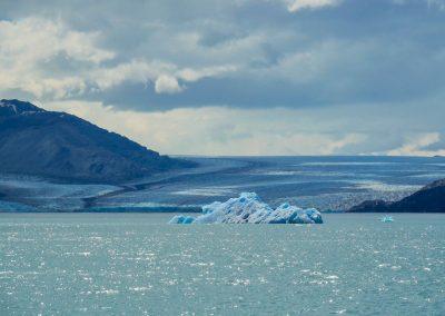 Der Upsala Gletscher aus der Ferne.