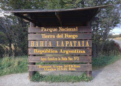Und hier endet dann die Ruta National N°3.