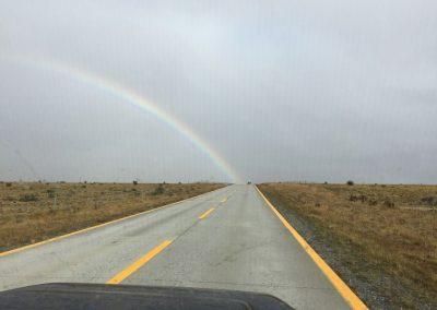 Von nun fahren wir wieder nordwärts, und machen uns auf die Suche nach dem Schatz am Ende des Regenbogens.