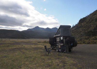 Beim Cotopaxi, einem weiteren Vulkan.