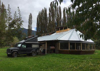Hier auf dem Camping «Torres del Simpson» harren wir zwei Wochen lang aus.