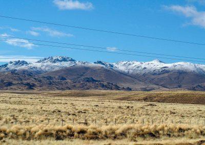 …begrüssten uns die schneeweissen Berge…