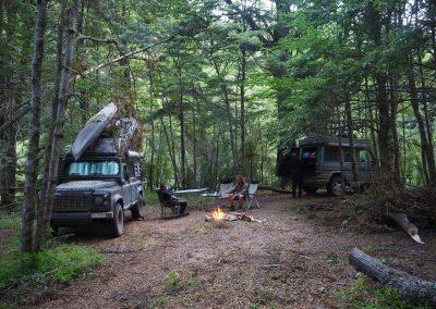 Um zu diesem Platz im Wald zu gelangen…