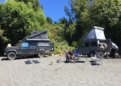 Und schon wieder direkt am Strand auf der Insel Chiloé…