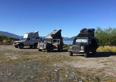 Nach der Fähre aus Chiloé nach Chaiten, sind wir hier gestrandet.