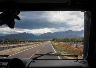 Mitten durch die Weinregion…