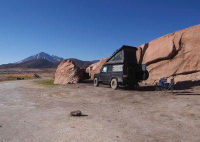 Kurz vor der Grenze zu Argentinien, in der Atacamawüste an einer Lagune.