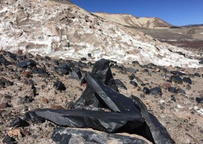 Einige Vulkansteine sind ganz glatt und seidig.