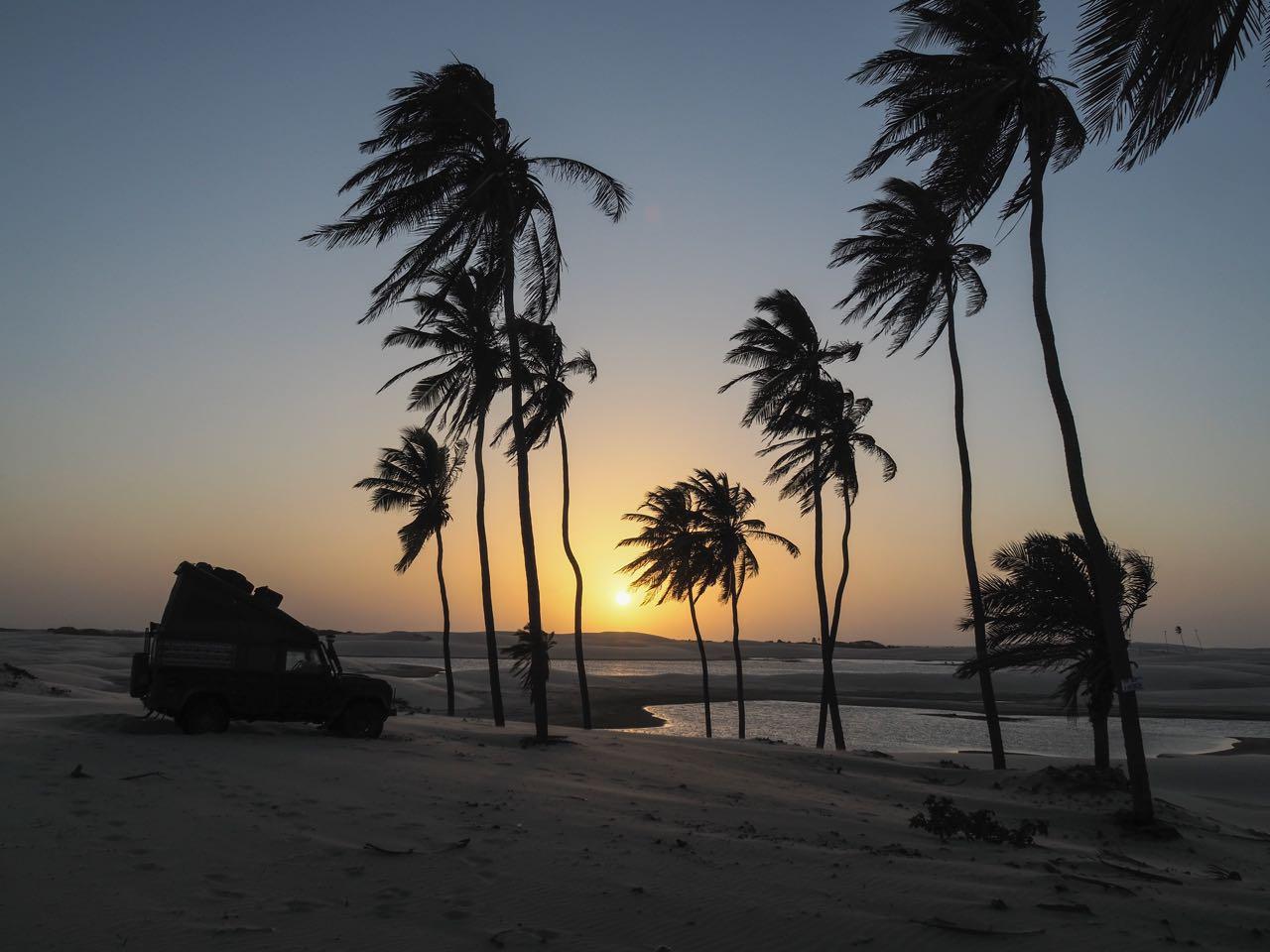 Ein richtig kitschiger Sonnenuntergang.