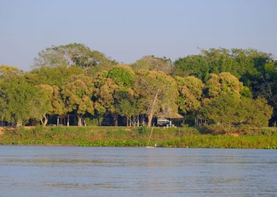 Im Nordpantanal in Porto Jofre, stehen wir direkt am Fluss…
