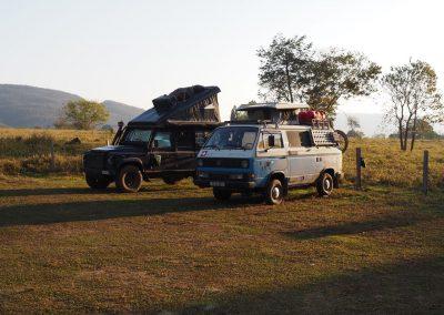 Am «Lago da Araras» kommen die Aras zum schlafen, und so auch wir.