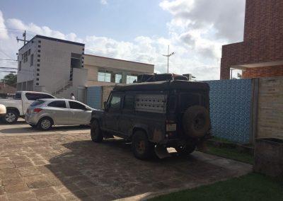 In São Luis auf dem Hotelparkplatz