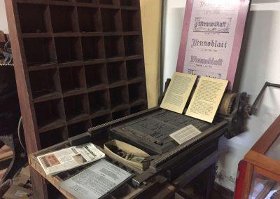 Auf dieser Druckerpresse wurde das «Mennonblatt» gedruckt.