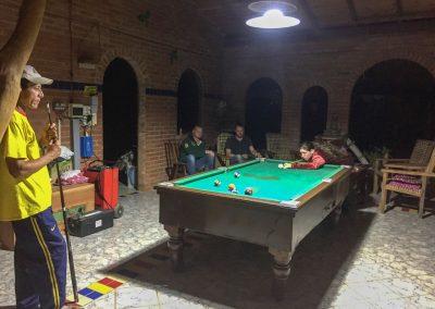 Immer mittwochs Abend wird Billiard gespielt.