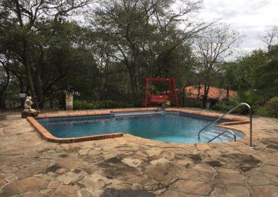 Der tolle Pool sorgt für Abkühlung.