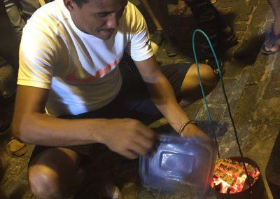 In São Luis geniessen wir Streetfood.