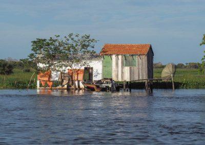 Häuser im Wasser.