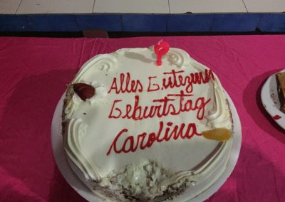 Der Kuchen ist sogar in Deutsch angeschrieben!