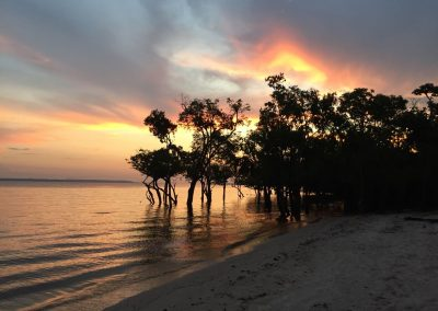 …und den schönen Sonnenuntergang.