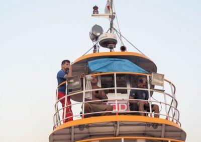 Die Schiffscrew…