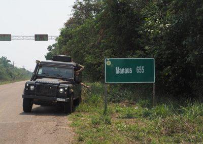 Geschafft! Wir haben die BR319 von Manaus her bewältigt.