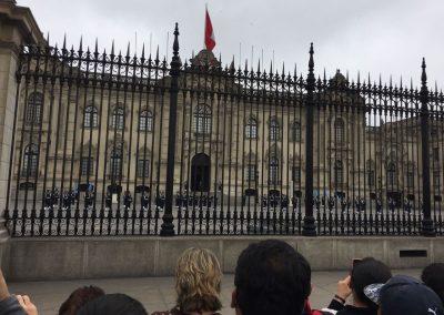Wachablösung beim Präsidentenpalast.