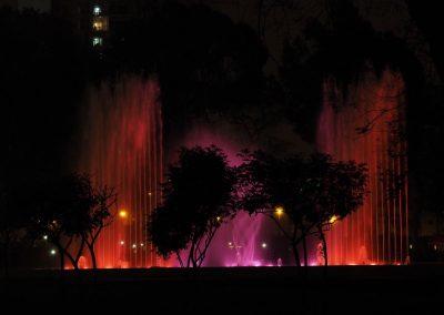 …mit einer spektakulären Lichtshow.