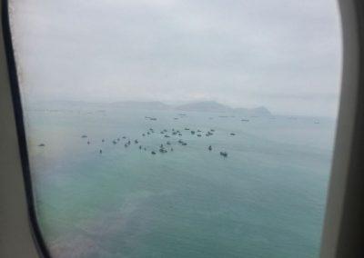 …und fliegen wieder an die Küste nach Lima.