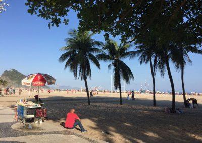 Der berühmteste Beach von Rio; Copacabana.