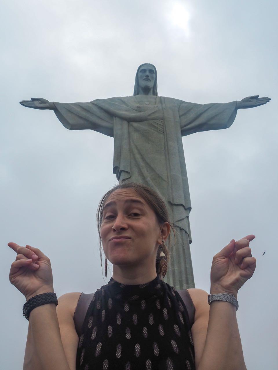 «Ich bin auch ein Christo!» Hoch oben beim Wahrzeichen der Stadt…